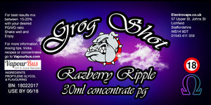 30ml Grog Shot Concentrate - Razberry Ripple