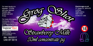 30ml Grog Shot Concentrate - Strawberry Milk
