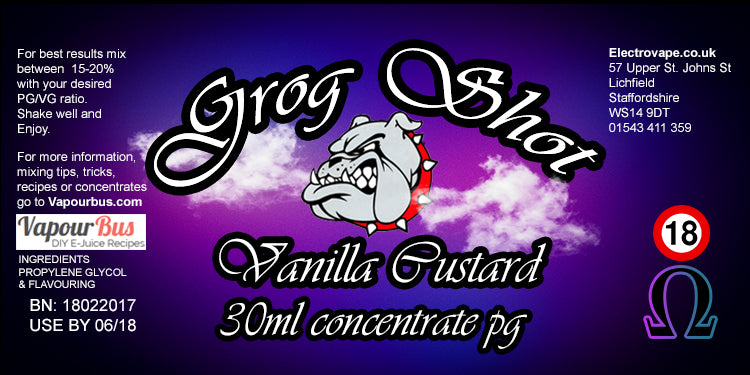 30ml Grog Shot Concentrate - Vanilla Custard