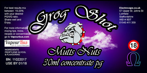 30ml Grog Shot Concentrate - Mutts Nuts