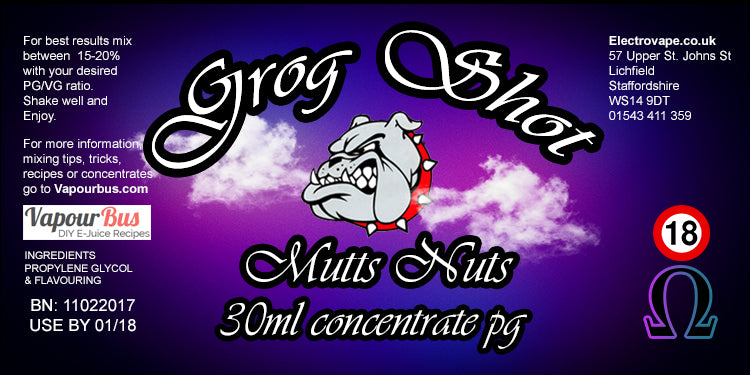 30ml Grog Shot Mutts Nuts