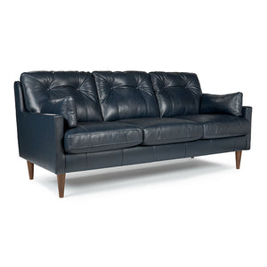 Best Home Furnishings Trevin Leather Stationary Sofa