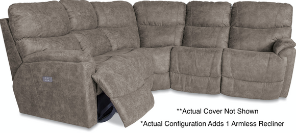 La-Z-Boy Trouper 4 Pc / 6 Seat Reclining Sectional