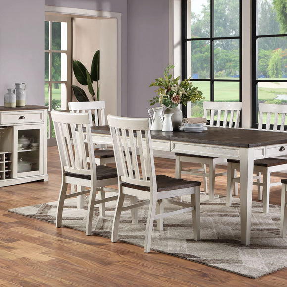 Kelsey Dining Collection White & Dark Oak