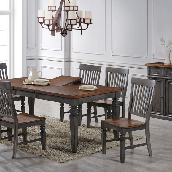 Saint Pete Dining Collection Storm Gray & Maple Finish