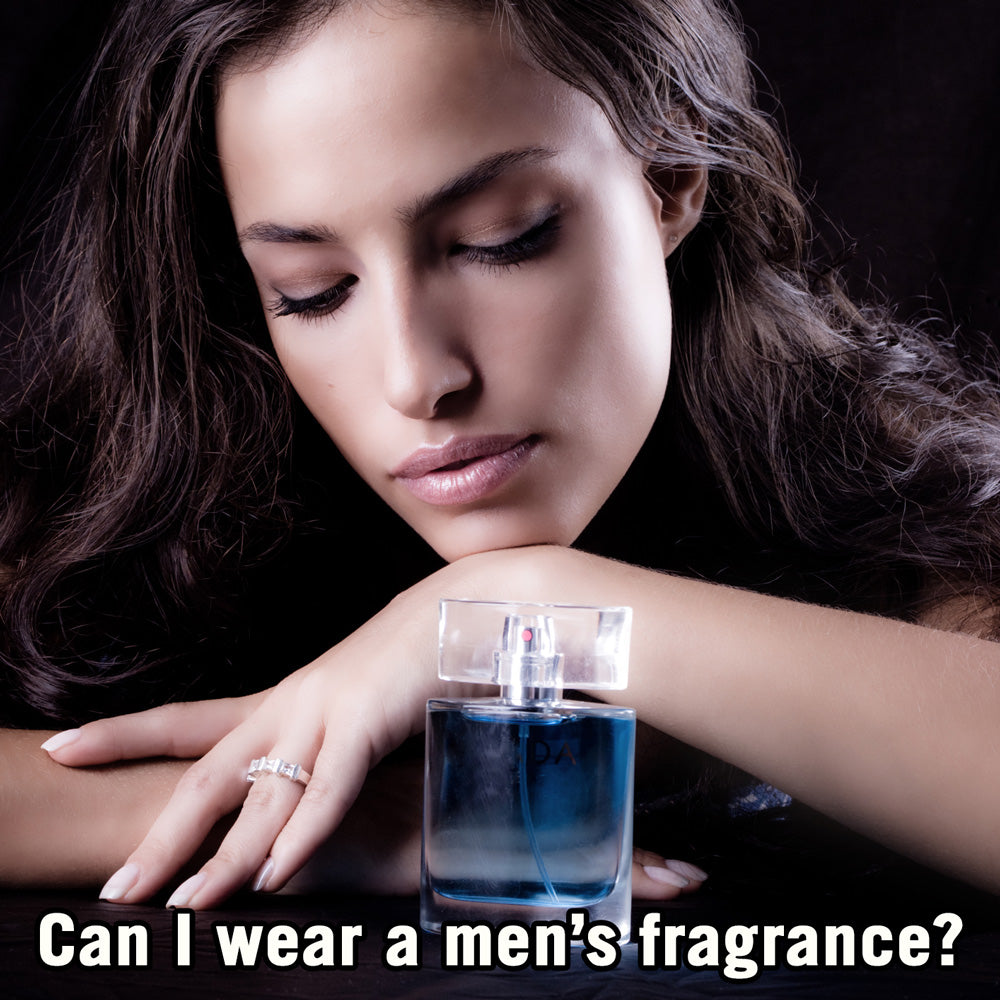 Can I wear a men's fragrance as a 'perfume'?