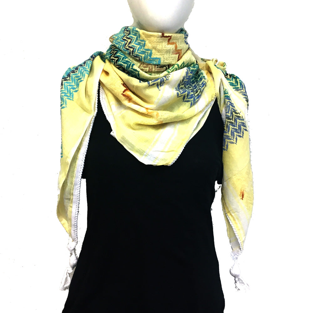 Authentic Hand Loomed Shawl (Yellow)