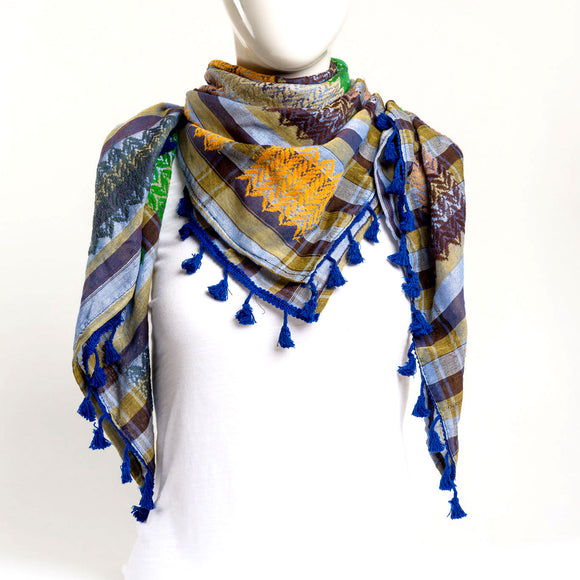 Authentic Hand Loomed Shawl (Motley)
