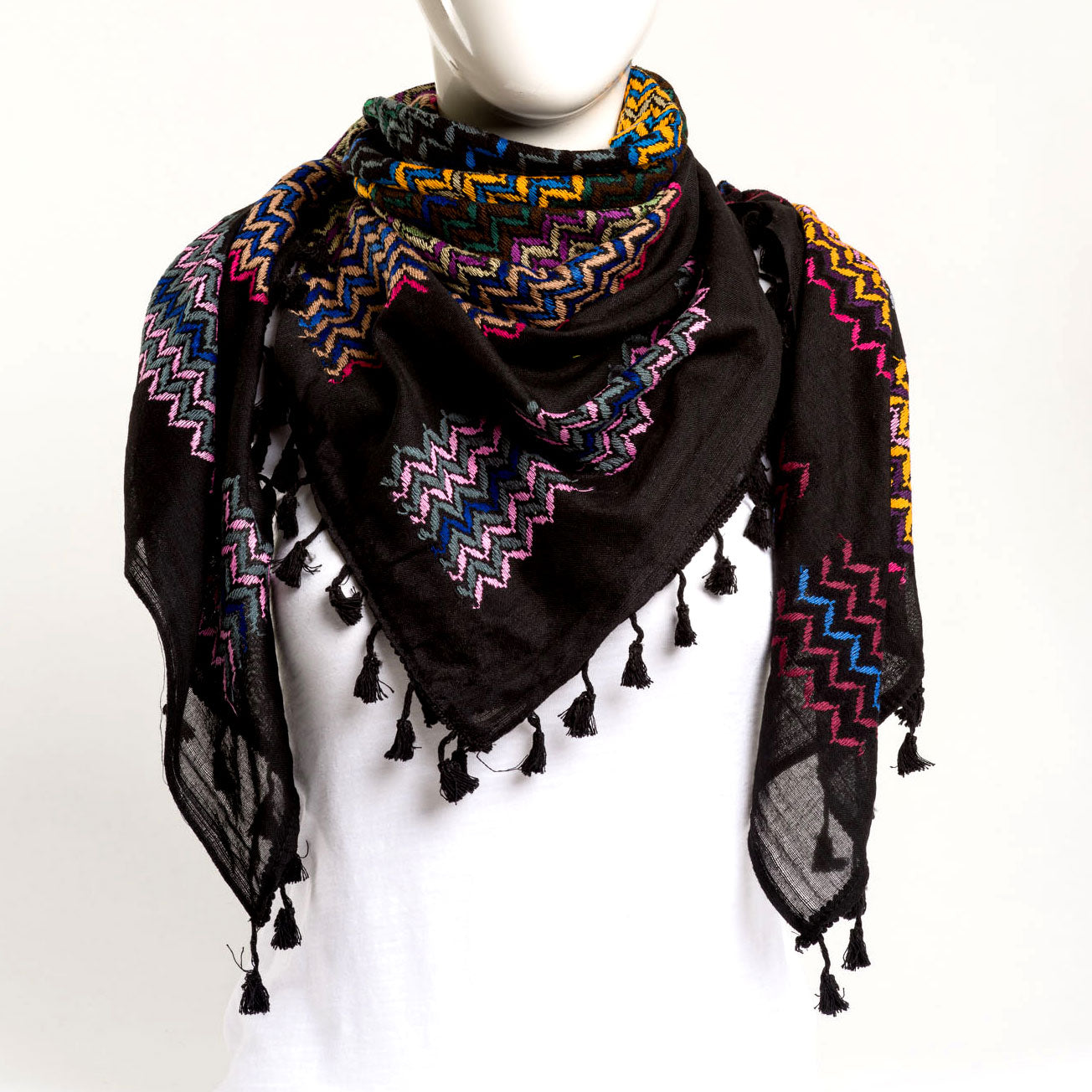 Authentic Hand Loomed Shawl (Melange (a mix))