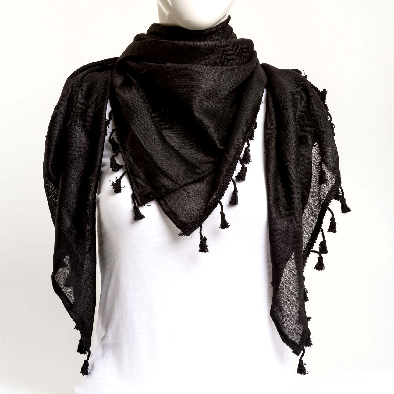 Authentic Hand Loomed Shawl (Coal)