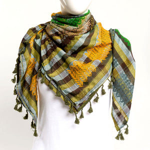 Authentic Hand Loomed Shawl (Saffron)