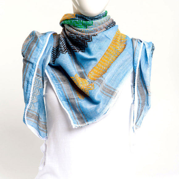 Authentic Hand Loomed Shawl (Azul)