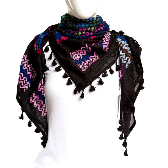 Authentic Hand Loomed Shawl (Fuchsia)
