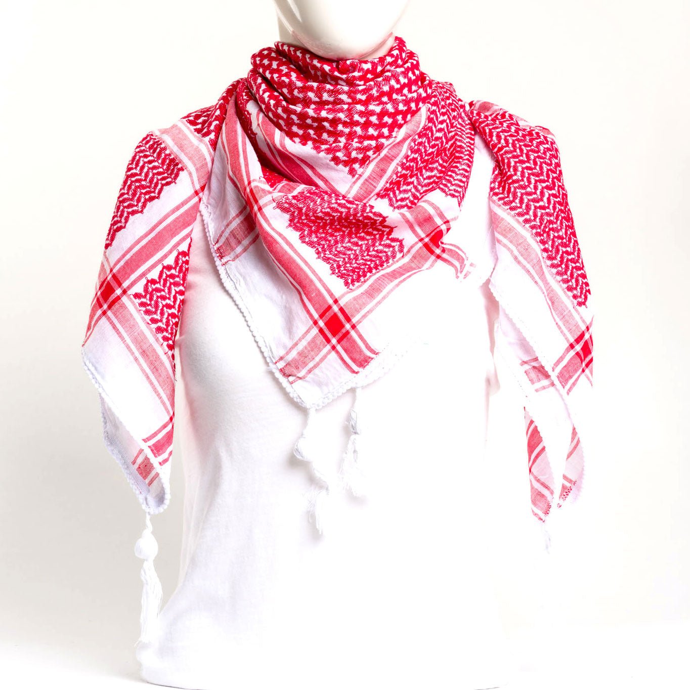 Authentic Hand Loomed Shawl (Scarlet)
