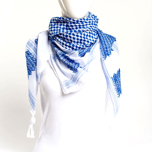 Authentic Hand Loomed Shawl (Cerulean)