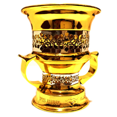 Metallic Goblet Charcoal Mubkhara (Incense Burner)