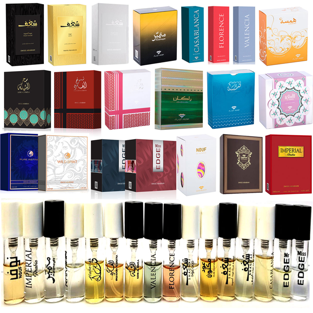 Swiss Arabian Perfume and Cologne Samples