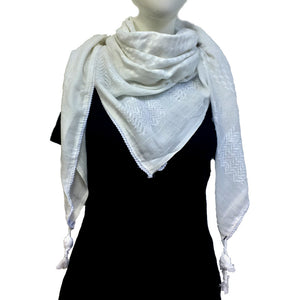 Authentic Hand Loomed Shawl (Off White)