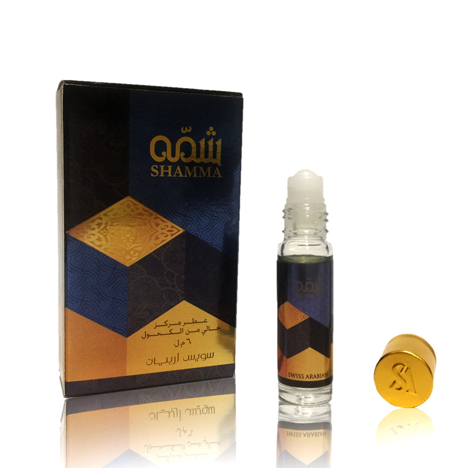 SHAMMA, Roll On Perfume Oil 6 mL (.2 oz) | Floral, Frutiy and Woody Notes
