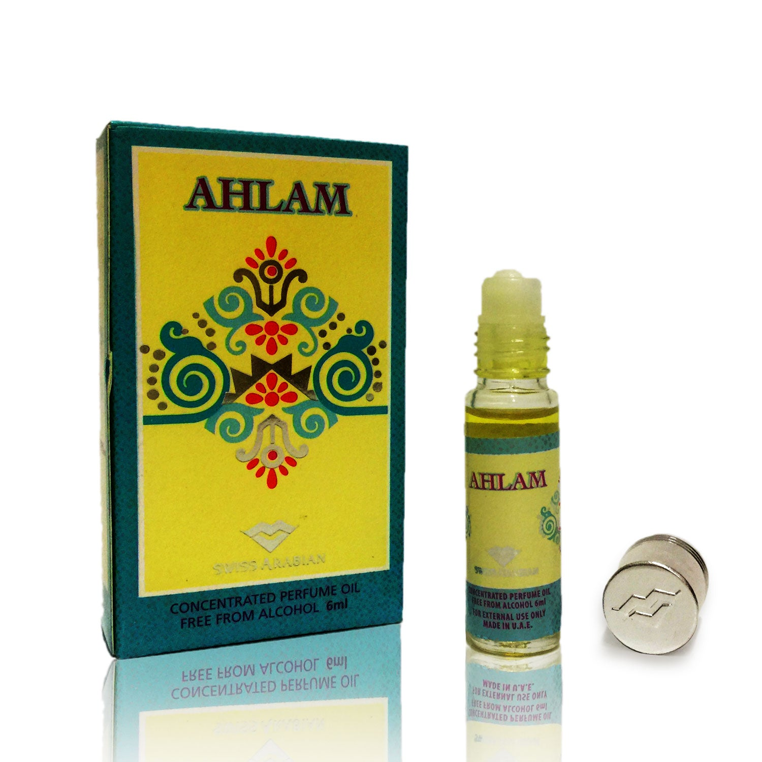 AHLAM, Roll On Perfume Oil 6 mL (.2 oz) | Musk, Floral, Fruity, Woody, Citrus, Spicy