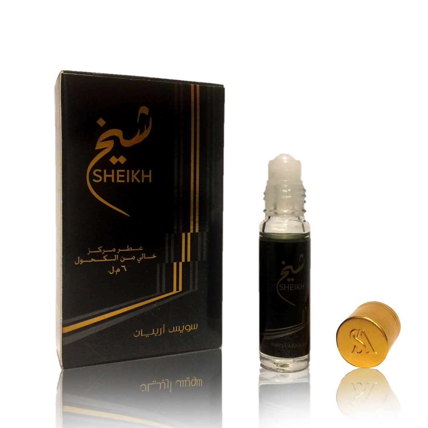SHEIKH, Roll On Perfume Oil 6 mL (.2 oz) | Musk, Woody, Aquatic and Citrus Notes