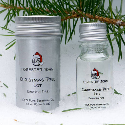Outside image of Christmas Essential Oil Blend of Fraser fir tree by Forester John