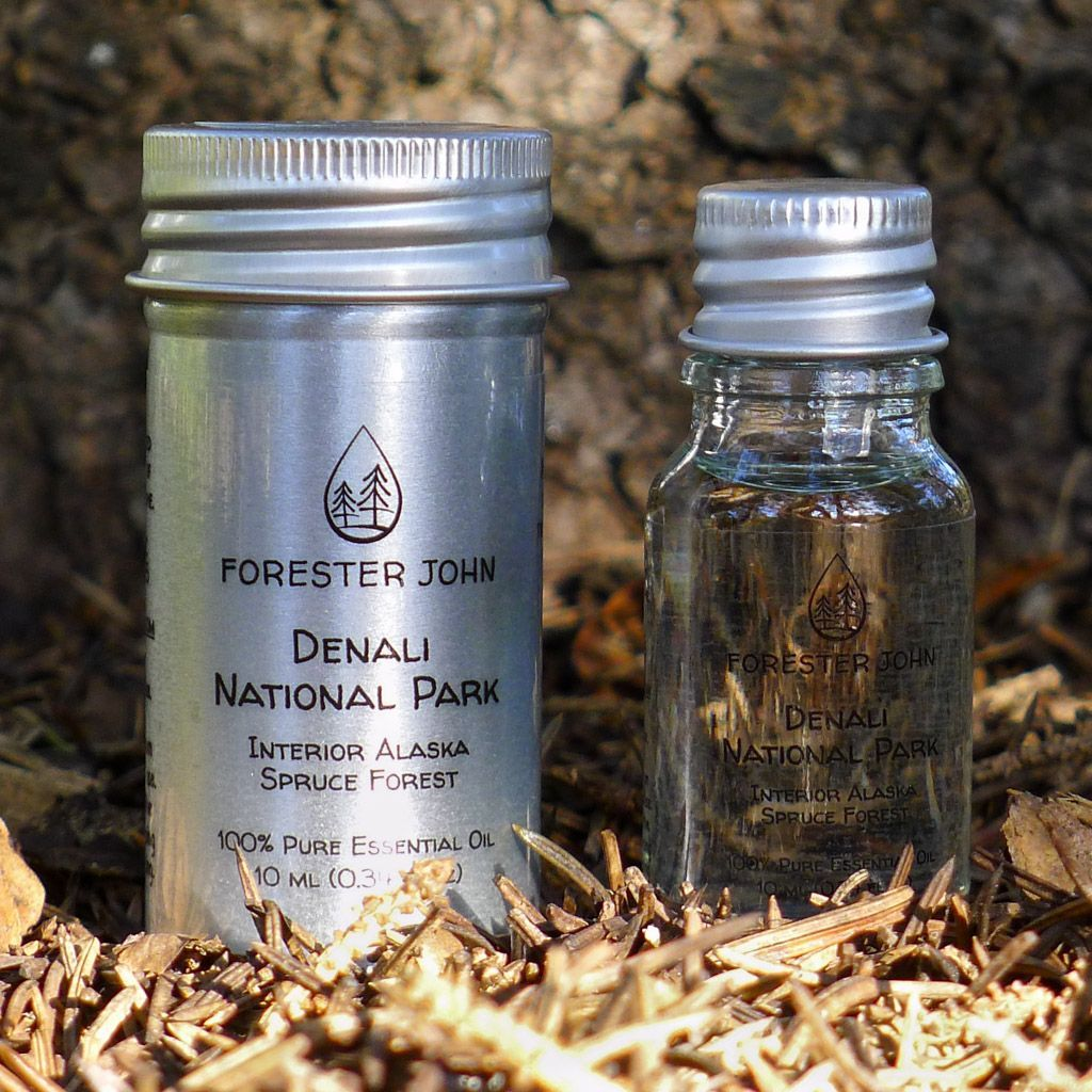 Outdoor photo of spruce essential oil forest blend - Denali National Park by Forester John