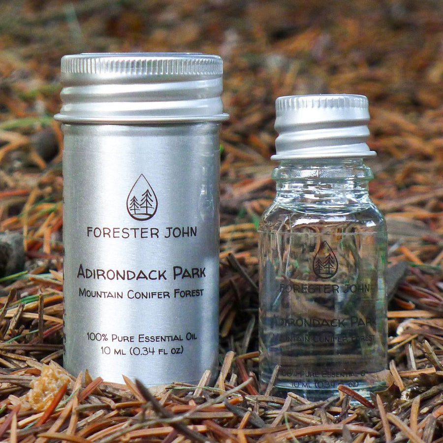 Side by side of Adirondack Park Spruce-Fir Essential Oil Forest Blend  by Forester John