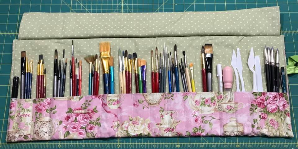 Pencil Roll Up (or paint brushes, markers, crayons, makeup brushes, pens....)