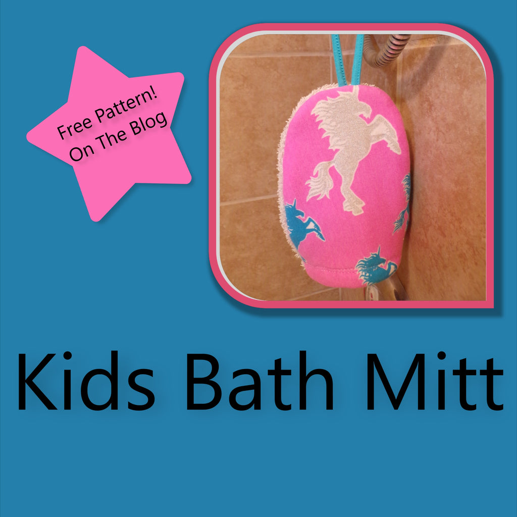 Free Kids Bath Mitt Pattern and Tutorial