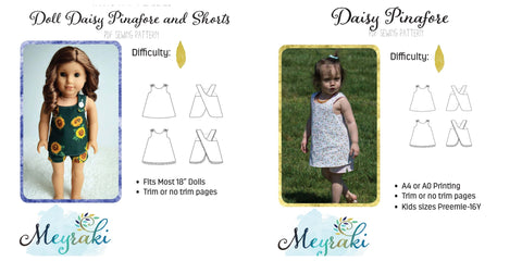 Daisy Pinafore Girl and Doll Bundle