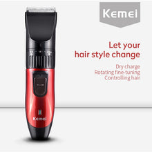Kemei KM-730 Hair Clipper Rechargeable Hair Cutting Machine Electric Shaver for Men Beard Trimmer Professional Hair Trimmer