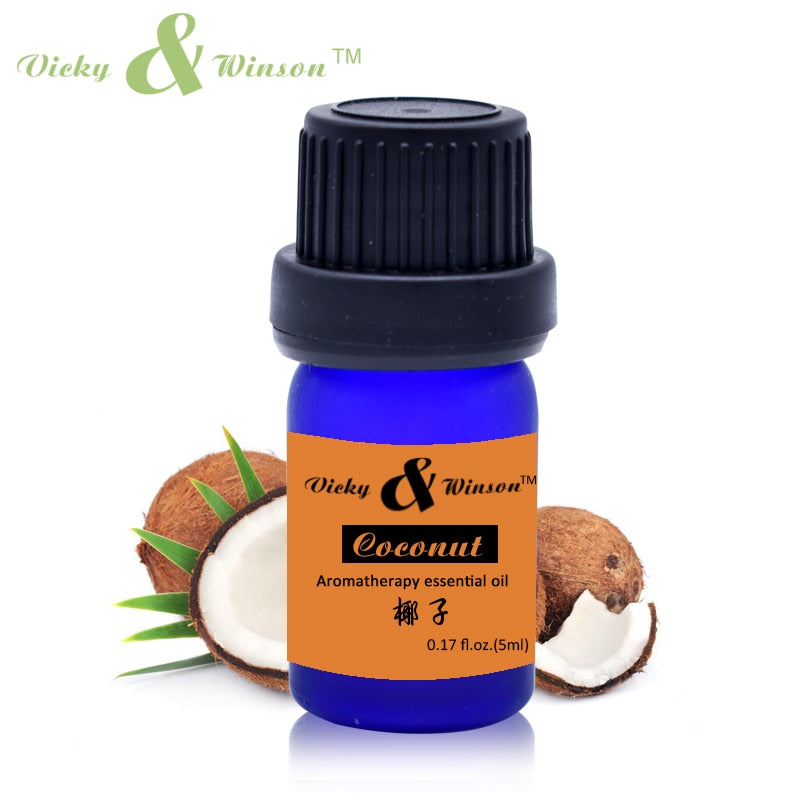 Vicky&winson Coconut Essential Oil 5ml Natural Healthy Oil for Aromatherapy Hair&Skin Care /Makeup Remover/Body Message VWXX511