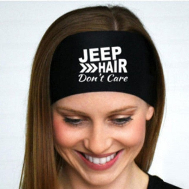 Fitness Headbands Women Ladies JEEP HAIR Letter Printing Sporting Sweatband Stretch Unisex Hair Band Hoop Hair Accessories
