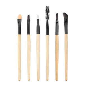 Facial Brush Horse hair Cosmetic Face Powder 6Pcs Cosmetic Eyebrow Eyeshadow Brush 2*