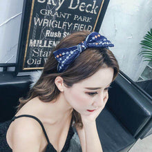 Summer Fabric Hairband for Women Fashion Girls Stripe Knotted Big bow Headband Ethnic Vintage Hair Accessories Bohemia Style