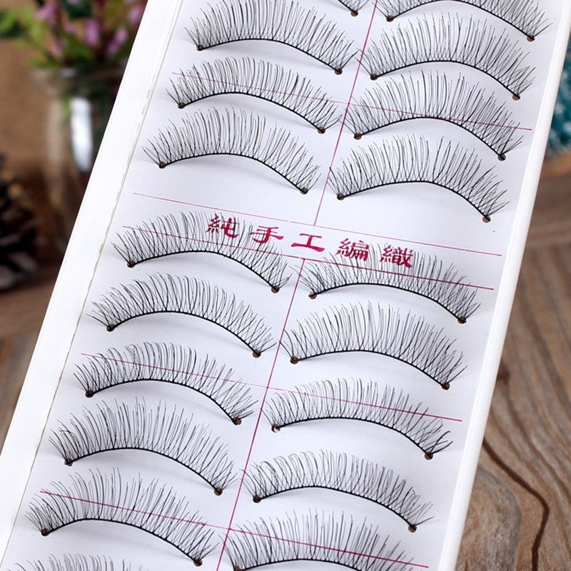 10 Pairs Natural  Soft False Eyelashes