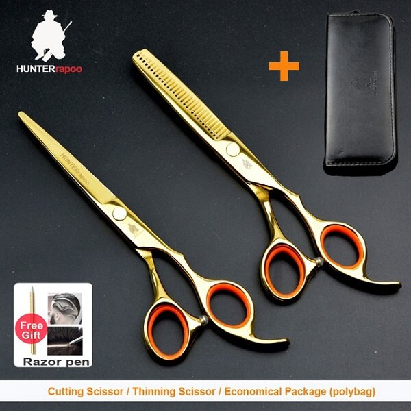 30% off 6 inch professional hair cutting shears Stainless steel barber scissors set hairdresser shop supplies product salons kit