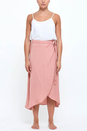L&D Candice Wrap Skirt Blush