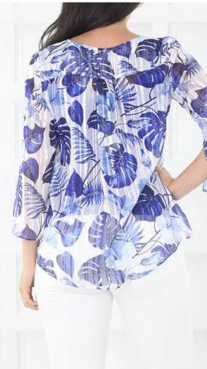 Motto Palms Chiffon Top