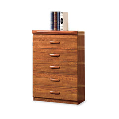 Modeste Chest Of 5 Drawers With Flip-Up Mirror