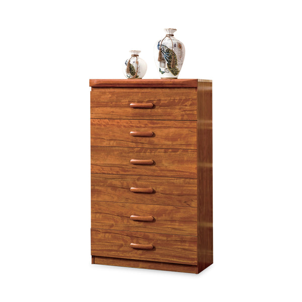 Modeste Chest Of 6 Drawers With Flip-Up Mirror