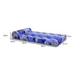 Viro Sofa Bed 3 Feet Single (Light Blue)