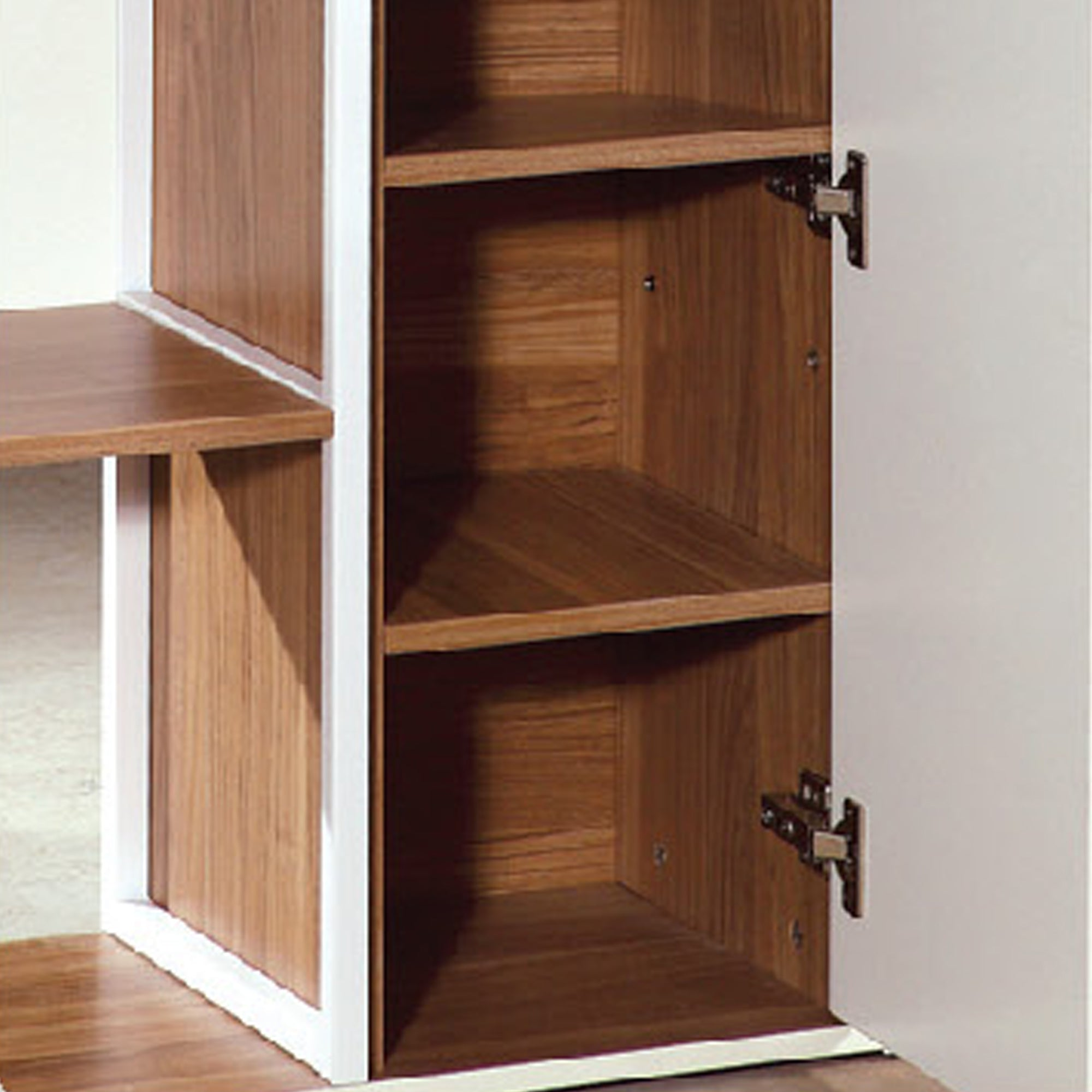 Amore Book Cabinet With Storage Shelves