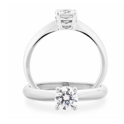 Diamond 4 Claw Solitaire Engagement Ring - 1802V70-18WD-3