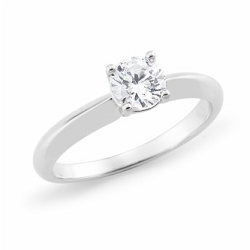 Diamond 4 Claw Solitaire Engagement Ring - 1802V40-18YWD-3