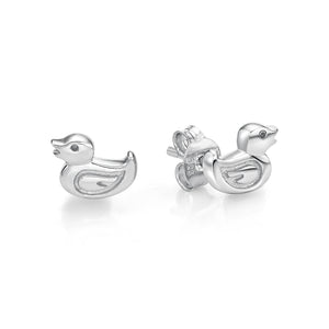 Silver Duck Earrings