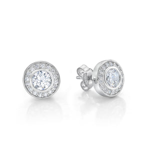 Silver Halo Studs