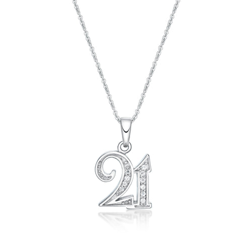 Silver Milestone Birthday Pendants