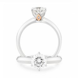 Diamond 6 Claw Solitaire Engagement Ring -1992V50-18RD-3